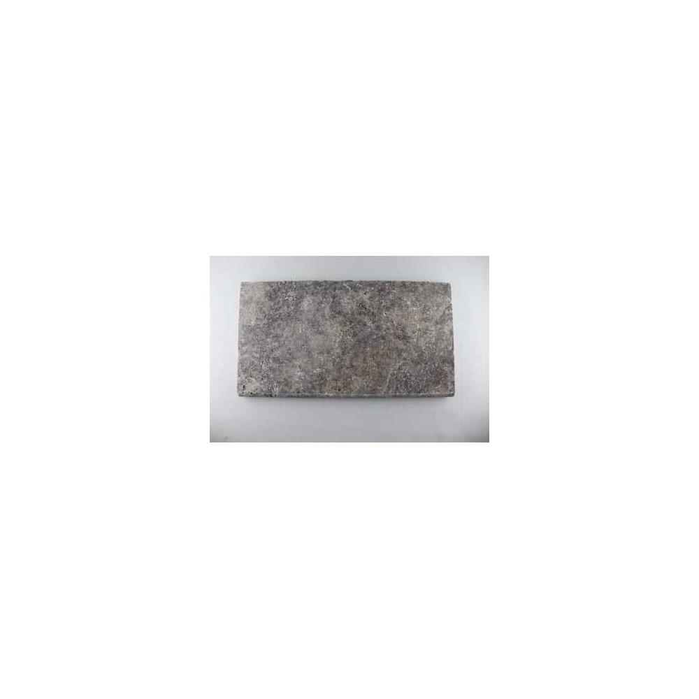 Black marble tumbled 40,6x40,6