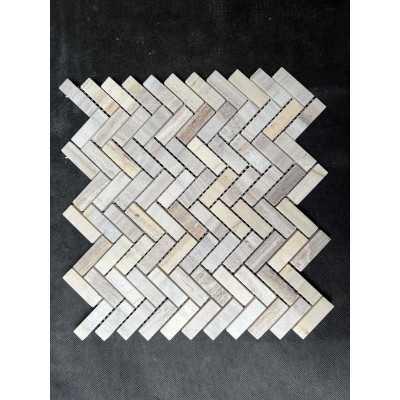 Light travertin Mozaiek 1x2,3x2,3