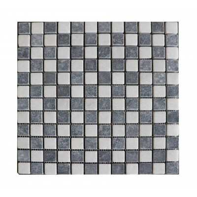 Zwart Wit Marmer Mozaiek 1x2,3x2,3